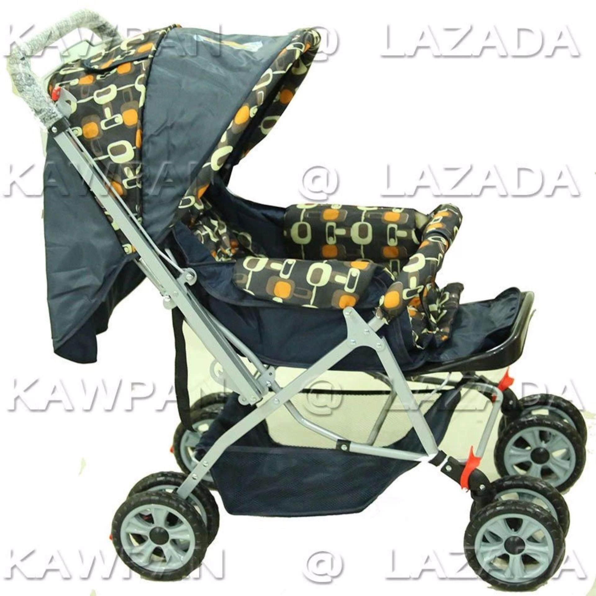 ของแท้และส่งฟรี Ada รถเข็นเด็กแบบนอน รถเข็นเด็กแบบพกพา ยี่ห้อ Ada Baby - สีเทา มีประกินสินค้า
