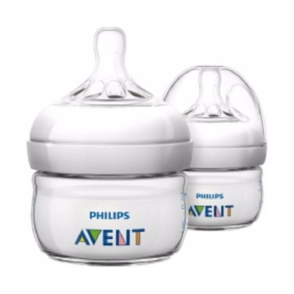 AVENT Natural BPA Free Polypropylene Bottle for Newborns, 2 Ounce (Pack of 2)