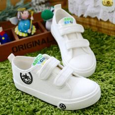 ขาย ซื้อ B*b* A01 สีขาวเด็กชายและเด็กหญิงที่จะช่วยให้รองเท้าผ้าใบรองเท้าต่ำ Velcro รองเท้าเด็ก ฮ่องกง
