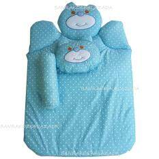 Babi Care ที่นอนใยสังเคราะห์หมี พร้อมหมอน+หมอนข้าง (สีฟ้า) 1 ชุด.