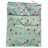 ทบทวน Baboon Baby กระเป๋ากันน้ำเก็บกลิ่น 2 ช่อง สำหรับพกพากางเกงผ้าอ้อมและแผ่นซับ Little Playground Green Baboon Baby