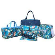 ขาย Baby 5 Gift กระเป๋าใส่ของทารก 5ชิ้น สำหรับใส่ขวดนม ผ้าอ้อม แพมเพิส พร้อมกระเป๋าทรงกระบอกเก็บอุณหภูมิ ถูก กรุงเทพมหานคร