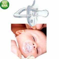 จุกนมหลอกแบบใส (แบบหัวกลม) Baby Baby Silicone จุกนมหลอก จุกนมหลอกปลอมสำหรับทารกแรกเกิด.