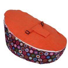 ราคา Baby Bean Bag Base Snuggle Bags Infant Sleeping Bed Seating Without Filling Circle Orange Intl ถูก