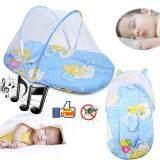 ขาย Baby Bed Mosquito Net ที่นอนเด็กอ่อน ที่นอนมุ้งปิกนิก พกพา กันยุง แมลงสัตว์รบกวนลูกน้อย สีฟ้า ผู้ค้าส่ง