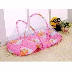ราคา Baby Bed Mosquito Net ที่นอนเด็กอ่อน ที่นอนมุ้งปิกนิก พกพา กันยุง แมลงสัตว์รบกวนลูกน้อย สีชมพู ออนไลน์ กรุงเทพมหานคร