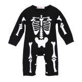 ความคิดเห็น Baby Boys Girls Warm Infant Human Skeleton Romper Jumpsuit Bodysuit Black Intl