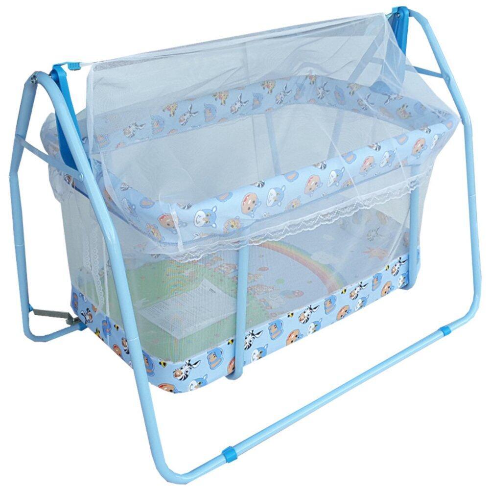 โปรโมชั่น Baby Cradle เปลไกวเครเดิร์น รุ่น C-023 (สีฟ้า)