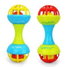 เด็กสำรวจและกลิ้งรอบของเล่นเด็กสั่นมีเสียงและ Teether พัฒนาการของเล่นเด็กสี: สีแดง.