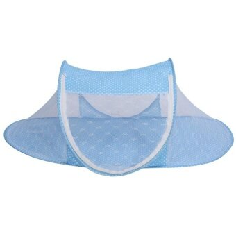 Baby Foldable Sleep Crib Net Tent (Blue)   - intl