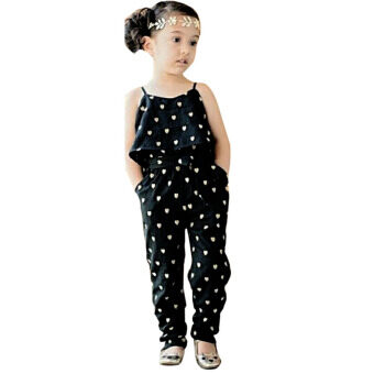 Baby Girls Condole Jumpsuits + Belt Kids Clothes - Intl