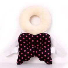 ขาย Baby Head Protection Pad Toddler Headrest Pillow Baby Neck Cute Wings Nursing Drop Resistance Cushion(Black)