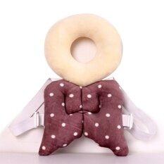 ซื้อ Baby Head Protection Pad Toddler Headrest Pillow Baby Neck Cute Wings Nursing Drop Resistance Cushion(Coffee) ถูก