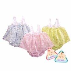 ซื้อ Baby Heart ชุดเสื้อเด็กแรกเกิด เสื้อผ้าป่าน แพ็ค 3 ชุด ขนาด 3 เดือน Baby Heart เป็นต้นฉบับ