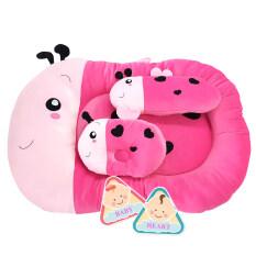 ราคา Baby Heart ที่นอนเด็กอ่อนลายผึ้ง สีชมพู Baby Heart ออนไลน์