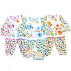 ราคา Baby Heart ชุดเสื้อเด็กแรกเกิดรุ่นกระดุม แขนยาว ขายาว ผ้าCotton100 แพ็ค 3 ตัว Baby Heart ใหม่