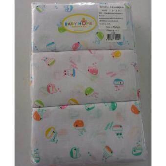 Baby Home ผ้าอ้อมผ้าสาลู คอตต้อน 100% ขนาด 22\ x 22\ แพ็ค 1 โหล