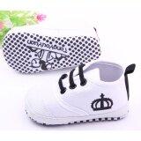 ทารกแรกเกิดทารกแรกเกิด Prewalker แฟลตนุ่มซี่งป้องกันการลื่นลูกไม้ขึ้นรองเท้าผ้าใบรองเท้าผ้าใบ นานาชาติ Unbranded Generic ถูก ใน จีน