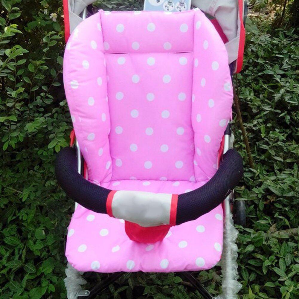 ที่ไหนขายถูก ๆ รถเข็นเด็กทารกรถเข็นเด็กทารกเบาะนั่งเบาะผ้าฝ้ายสีขาวชมพู คุณภาพดี