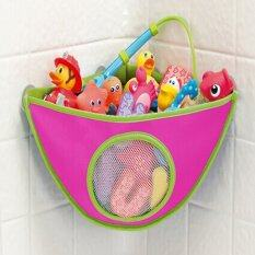 ราคา Baby Kids Bath Tub Waterproof Toy Hanging Storage Triangle Bag Rose Red Vakind ออนไลน์