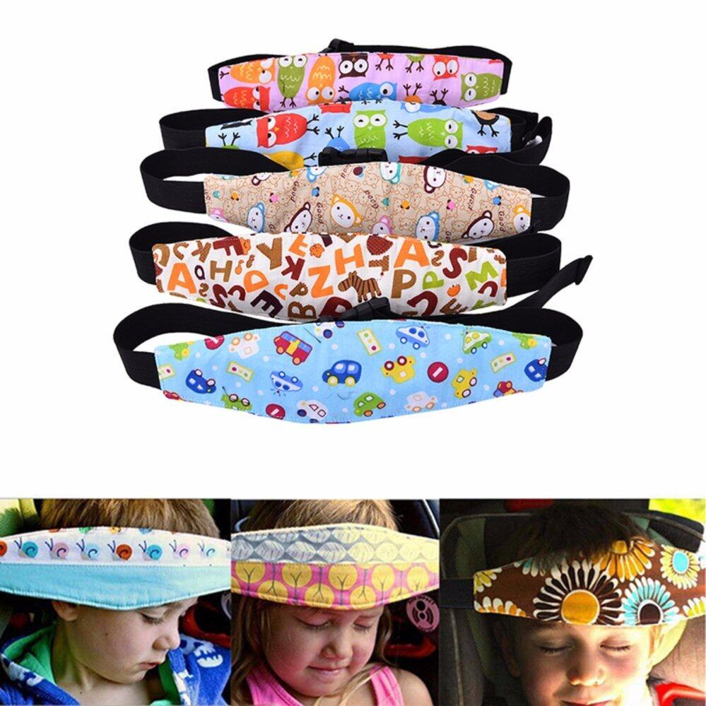 Baby Kids Head Support Holder Sleeping Belt Adjustable Safety Car Seat Nap Aid yellow letters - intl