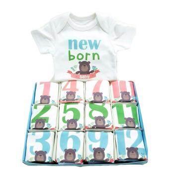Baby Mamy Monthly Set เซตบอดี้สูท 12 เดือน แรกเกิด - 1 ปี ลาย Bear