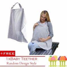 โปรโมชั่น ปกทารกสำหรับเลี้ยงลูกด้วยนม กว้าง Hooter Hider ระบายอากาศได้ฝ้าย 1 ชิ้นทารกยางกัดฟรี นานาชาติ