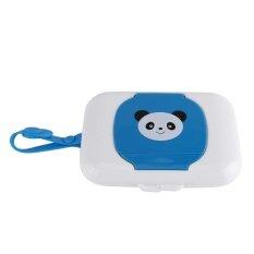 เด็กกลางแจ้งรถเข็นเด็กสำหรับเดินทางทิชชู่เปียกกล่องเนื้อเยื่อสีขาวและสีฟ้า - Intl.