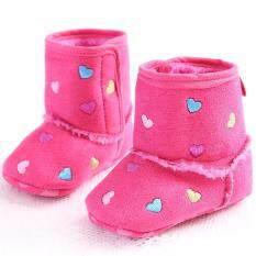 โปรโมชั่น รองเท้าหัดเดิน รองเท้าเด็กอ่อน รองเท้าเด็กพื้นผ้า Baby Shoe Prewalker ของใช้เด็กอ่อน รองเท้าทารก รองเท้าเด็กเล็ก รองเท้าบูทเด็กอ่อน สีชมพู หัวใจ 13 Cm Unbranded Generic