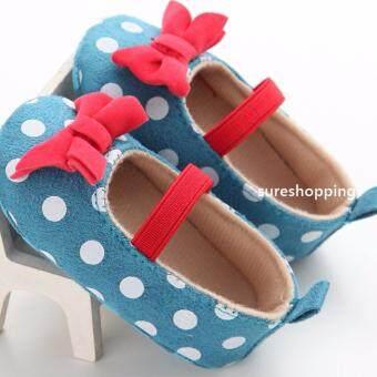 รองเท้าหัดเดิน พื้นยาง รองเท้าเด็กอ่อน รองเท้าเด็กพื้นผ้า baby shoe Prewalker ของใช้เด็กอ่อน รองเท้าทารก รองเท้าเด็กเล็ก รองเท้าบูทเด็กอ่อน สีกรมแดง