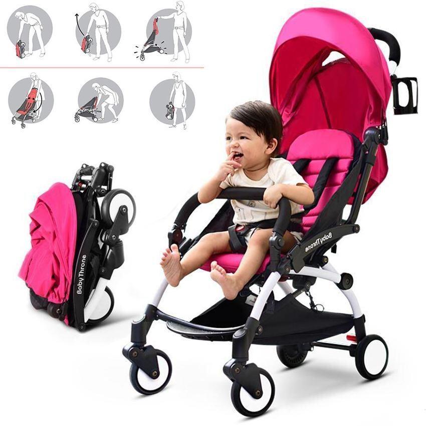 ส่งฟรี Baby Say Hi รถเข็นเด็กแบบนอน รถเข็นเด็ก - สีชมพู(แถมฟรี มุ้งคลุมรถเข็นเด็ก กันยุง กันแมลง) [Baby Say Hi] อ่านรีวิวจากผู้ซื้อจริง