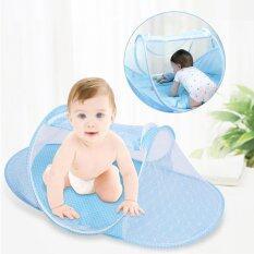 ขาย Baby Toddler Crib Bed Cot Travel Netting Canopy Mosquito Net Tent Blue Intl จีน