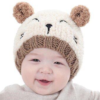 เด็กทารกเด็กวัยหัดเดินเด็กสาวถักเด็กน่ารักหมวกนุ่ม