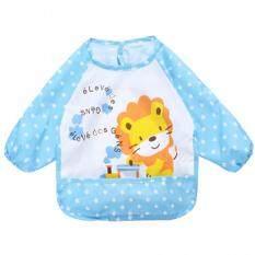 ราคา Baby Touch ผ้ากันเปื้อนเด็ก กันน้ำ แขนยาว สิงโต ฟ้า ใหม่