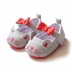 ซื้อ Baby Touch รองเท้าเด็ก รองเท้าหัดเดิน แซนเดิล แมวซน เทา ใหม่ล่าสุด