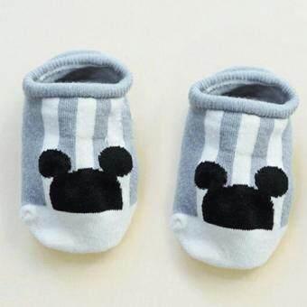Baby Touch ถุงเท้าเด็ก สั้นบาง ฮิปสเตอร์เกาหลี (หูกลม เทา)