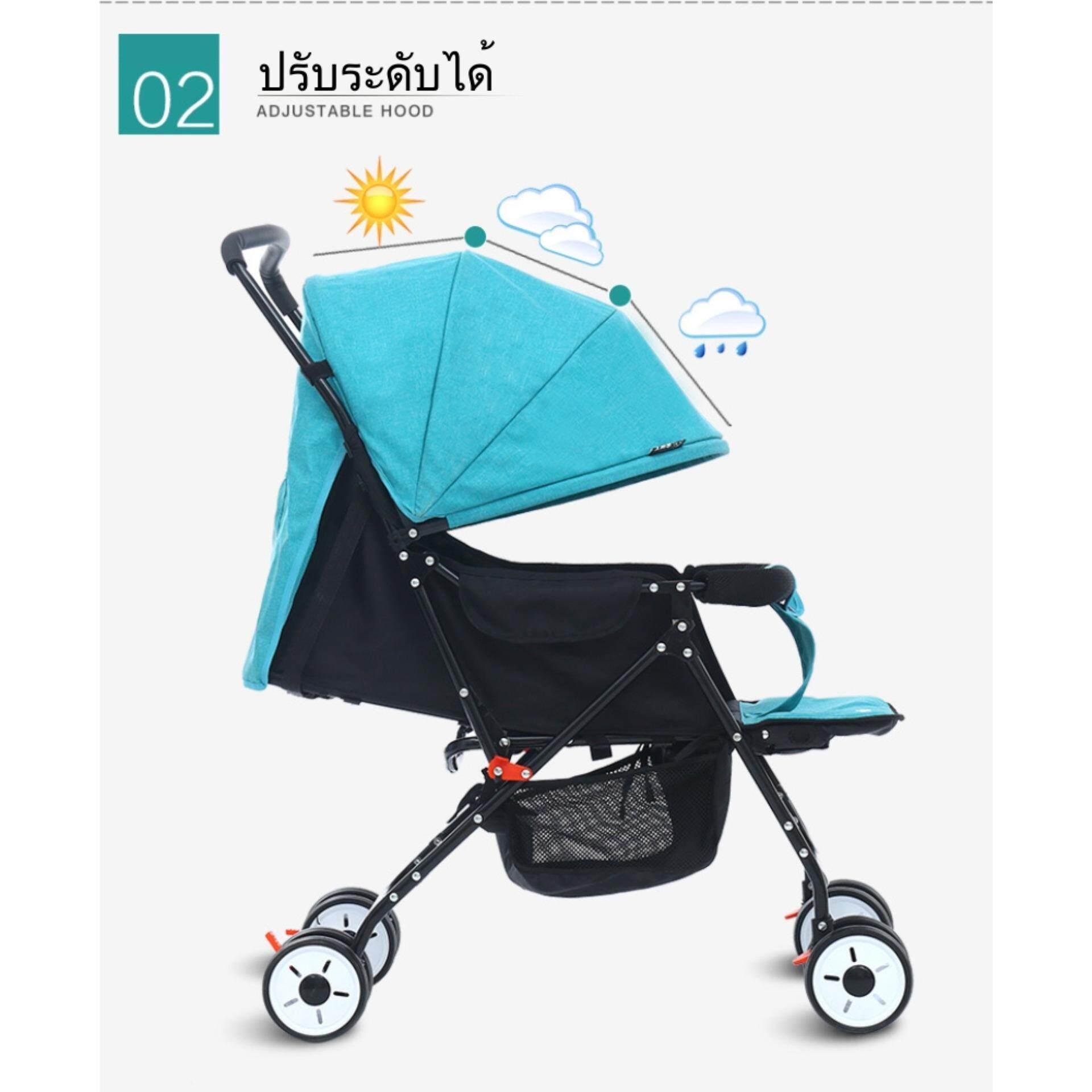 คูปอง ส่วนลด เมื่อซื้อ Ada รถเข็นเด็กแบบนอน รถเข็นเด็ก ยี่ห้อ Ada Baby ของแท้ Original - สีม่วง ถูกกว่านี้ไม่มีอีกแล้ว