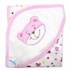 Babybrown ผ้าห่ม ผ้าห่อตัวสำหรับเด็กแรกเกิด ปักรูปหมี พื้นลาย ขนาด 28 X 30 นิ้ว เป็นต้นฉบับ