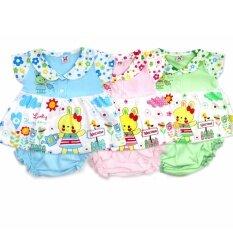 โปรโมชั่น Babybrown เสื้อเข้าชุดคอปก ลายกระต่าย พร้อมกางเกงใน แพค 3 ชุด สำหรับเด็กเล็ก 3 6 เดือน และ 6 12 เดือน ถูก