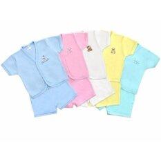 ราคา Babybrown เสื้อเข้าชุด เสื้อแขนสั้นปักลาย พร้อม กางเกงขาสั้น สำหรับเด็กเล็ก เด็กแรกเกิด 6 เดือน แพค 5 ชุด ออนไลน์
