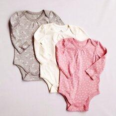 Babygap G*rl เซ็ต 3 ชิ้น บอดี้สูทเนื้อนุ่มแขนยาว สำหรับเด็กแรกเกิด 24 เดือน ชุดเด็กทารก บอดี้สูทเด็ก ชุดเด็กอ่อน ใน กรุงเทพมหานคร