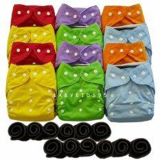 ขาย Babykids95 กางเกงผ้าอ้อม ซักได้ กันน้ำ Tpu แผ่นซับชาโคลหนา5ชั้น คละสี 12 ตัว Babykids95 ถูก