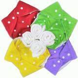 ซื้อ Babykids95 กางเกงผ้าอ้อมซักได้ กันน้ำ Tpu แผ่นซับไมโครฯหนา3ชั้น เซ็ท 4ตัว Red Yellow Purple Green