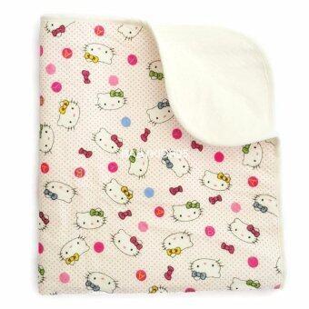 BABYKIDS95 ผ้ารองพื้นเอนกประสงค์ กันน้ำ ผ้าหนานุ่ม ซักได้ ขนาด 50*70 ซม. (White Kitty)