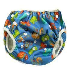 ซื้อ Babykids95 ผ้าอ้อมว่ายน้ำ ซักได้ Swim Nappy 7 15 Kg ปรับเอวและต้นขาได้ กันอึลงสระ Light Blue Dragons ถูก Thailand