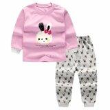 โปรโมชั่น Babymari ชุดนอนเด็ก ชุดนอนเด็กผ้านิ่มลายกระต่าย เซ็ทชุดนอนรุ่นขายดี เสื้อหนาวเด็กผ้านิ่ม ถูก