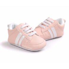 ซื้อ Babymari รองเท้าเด็กพื้นผ้า รองเท้าเด็กเล็ก รองเท้าผ้าใบเด็ก รองเท้าเด็กหัดเดิน สีชมพูนู้ด ถูก ใน กรุงเทพมหานคร