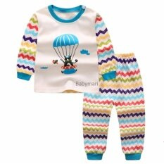 โปรโมชั่น Babymari ชุดนอนเด็ก ชุดนอนเด็กผ้านิ่มลายหมีบอลลูน เซ็ทชุดนอนรุ่นขายดี เสื้อหนาวเด็กผ้านิ่ม Babymari ใหม่ล่าสุด