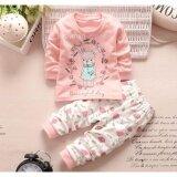 Babymari ชุดนอนเด็ก ชุดนอนเด็กผ้านิ่มลายกระต่ายสีชมพู เซ็ทชุดนอนรุ่นขายดี เสื้อหนาวเด็กผ้านิ่ม ใหม่ล่าสุด