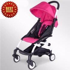 ขาย ซื้อ Babymari รถเข็นเด็กพับเล็ก รถเข็นเด็กน้ำหนักเบา รถเข็นเด็กขนาดพกพา รุ่นขายดี สีชมพู ใน กรุงเทพมหานคร